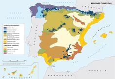 Mapa de Regiones Climáticas de España - Península