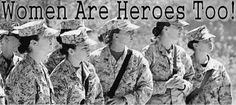 Female soldiers and vets ~ I salute you!!