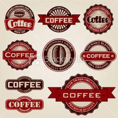 Vintage Coffee Labels on iStockphoto, by bortonia (Jennifer Borton)
