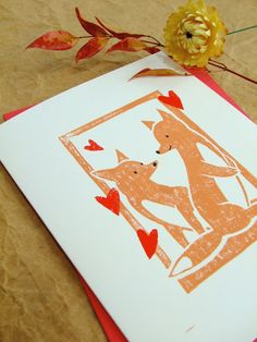 foxes in love adorable for a homemade valentine