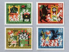 The Wolf & Seven Goats Stamp Set (1963)
