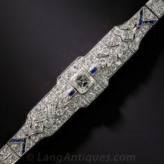 Art Deco Diamond and Sapphire Bracelet