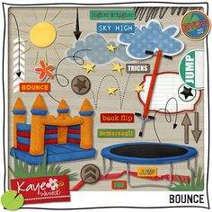 Lots of fun summer events can be scrapped with these new goodies from Kaye