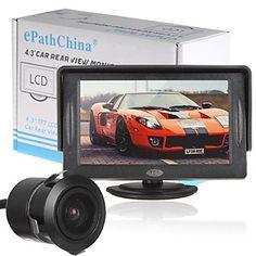 4,3 hüvelykes 480 x 272 TFT LCD színes kijelző autó visszapillantó fejtámla monitor cmd autó kamera – EUR € 25.99