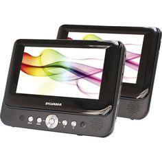 """Sylvania - 7"""" Dual Portable DVD Player - Black, SDVD8737A"""