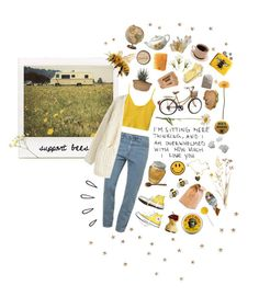 """bee kind"" by peachiemaggie ❤ liked on Polyvore featuring American Apparel, Chunk, Stampd, Converse, Old Navy, Chicwish, Burt's Bees, Gerber, Banana Republic and Keen Footwear"