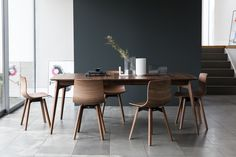 Dulwich Table by Matthew Hilton and Loku chairs by Shin Azumi  Case Furnitue