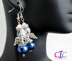 Handmade Blue Angel Christmas Earrings by CICinspireme on Etsy, $14.00 #earrings #angels #Christmas