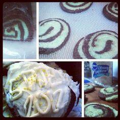 Mint Chocolate Swirl Cookies
