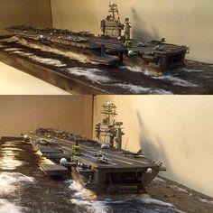 いいね!1,165件、コメント10件 ― Usina dos Kitsさん(@usinadoskits)のInstagramアカウント: 「USS ABRAHAM LINCOLN cv-72  Scale 1/700  Trumpeter  By: Leite Modelismo From: I love scale model…」