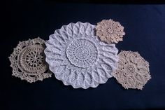 Doilies, designs by Mary Werst and Patricia Kristoffersen Doilies, Elf, Crochet Earrings, Mary, Handmade, Jewelry, Design, Hand Made, Jewlery