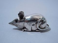 English Sterling Silver Mouse match strike