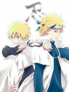 Naruto and Minato. Like father like son Naruto Minato, Naruto Uzumaki Shippuden, Anime Naruto, Anime Fr, Naruto Fan Art, Naruto Cute, Naruto Funny, Sasunaru, Boruto
