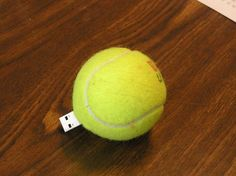 Put your USB in a tennis ball!