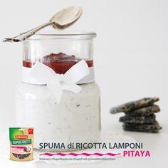 spuma di ricotta. lamponi e pitaya @elenafoodblog