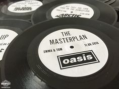 custom vinyl record wedding table name http://www.wedfest.co/vinyl-record-wedding-invites-save-the-dates/