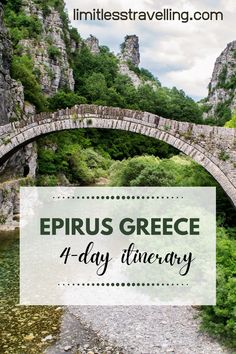 So, if you are planning to spend your best Epirus Greece Holidays, I've prepared for you the Ultimate 4-day itinerary, developed by local professionals and approved by me | Epirus Greece travel   Epirus Greece bridges and rivers   Epirus Greece in winter | limitlesstravelling.com | Greece travel Winter Destinations, Vacation Destinations, Greece Holidays, International Travel Tips, Holidays Around The World, Europe Travel Guide, Worldwide Travel, London Travel, Greece Travel