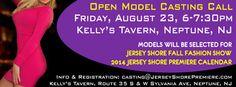 Jersey Shore Fashion Show model casting, Aug 23, 2013, Kelly's Tavern Neptune