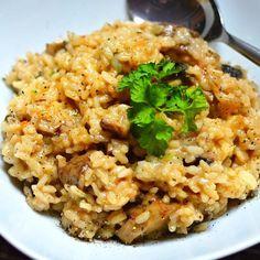 Portobello, Fried Rice, Risotto, Fries, Ethnic Recipes, Food, Essen, Nasi Goreng, Yemek