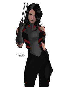 "X-23 aka Laura Kinney. I'm not particularly a fan of the current ""All-New X-Men"" new uniforms and to have Laura wear brown….blech. So I instead infused some X-Force inspire..."