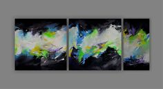 Acryl auf Leinwand, Triptychon, 60cm x 60 cm, 30 cm x 60 cm. Art Informel, Abstract Art, Etsy, Artwork, Painting, Atelier, Triptych, Bedroom Office, Living Room