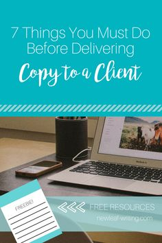 7 Things You Must Do Before Delivering Copy to a Client  Copywriting tips, Freelance writing business, copywriting clients, writing tips, blogging tips #writer #blogger #entrepreneur #copywriting #businesstips