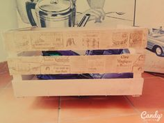 Cassetta di legno, rifinita con il Decoupage con carta DecoArt- PERSONALIZZABILE CON NOME- - Luxury shop -