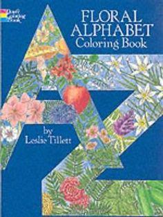 Floral Alphabet Colouring Book