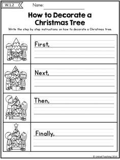 Christmas Writing Activity (FREE) Homeschool Kindergarten, Kindergarten Writing, Writing Activities, Literacy, Preschool, Christmas Worksheets, Christmas Activities, Christmas Writing, First Grade Writing