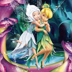Two fairies - born of the same laugh - Periwinkle & Tinkerbell