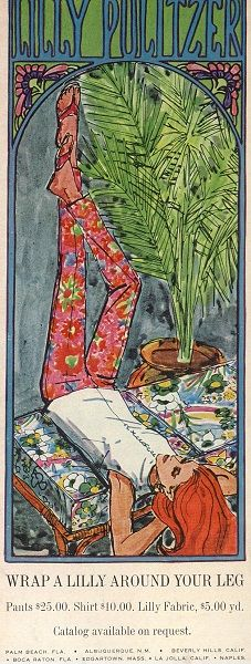 The Best of Vintage Lilly Pulitzer: 1968 Lilly Pulitzer Illustration--it would be nice if it were still this price