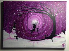 Cat PaintingI wish I may Fairy Angel on swing 12 x 9 acrylic on by Michael Prosper Easy Canvas Painting, Acrylic Canvas, Painting & Drawing, Fairy Paintings, Beginner Painting, Rock Art, Painting Inspiration, Fantasy Art, Art Projects