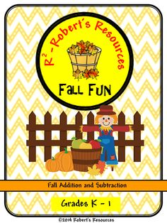 R-Squared - Robert's Resources presents a fun fall math packet for young students. Students will love to practice addition and subtraction using fall leaves, pumpkins, apples, acorns, and more.($)