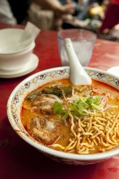 The original Japanese noodle soup: Ramen. http://foodmenuideas.blogspot.com/2013/10/types-of-japanese-food-what-are-they.html