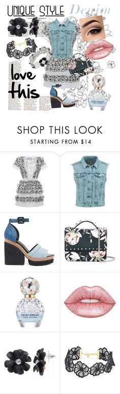 """love this"" by gigiglow ❤ liked on Polyvore featuring Blumarine, rag & bone, Pierre Hardy, SALAR, Marc Jacobs, Lime Crime, Design Lab and Dana Buchman"
