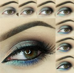 Gorgeous bright and colorful photo tutorial by GlamDivaPL using Makeup Geek's Barcelona Beach, Corrupt, Mermaid, and Center Stage eyeshadows and foiled eyeshadows along with Insomnia and Afterglow pigments and Immortal gel liner! For more info on how to recreate this look, click on the pic!