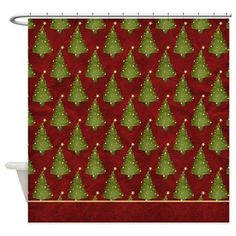 Christmas Holiday Trees Shower Curtain D4