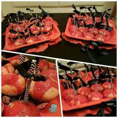 Unos murciélagos para adornar estas magdalenas 👻👻 #halloween #magdalenas #cupcakes #handmade #silviadeleonhandmade