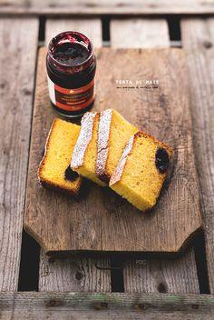 #Torta al mais con composta di Mirtillo nero - senza glutine #torta #cake #glutenfree #recipe #food #foodie