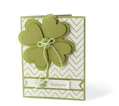 Carissa Wiley (large nesting shamrock, four smaller hearts, button and twine)