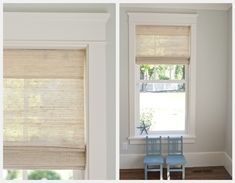 This window trim is so cute and unique. Natty by Design: Window Casing Craftsman Window Trim, Interior Window Trim, Craftsman Style, Interior Doors, Window Casing, Window Trims, Blinds Design, Home Projects, Family Room
