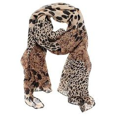 Long Soft Wrap Shawl Silk Leopard Chiffon Scarf ($3.99) ❤ liked on Polyvore featuring accessories, scarves, newchic, summer scarves, chiffon shawl, silk wrap shawl, silk scarves and chiffon scarves