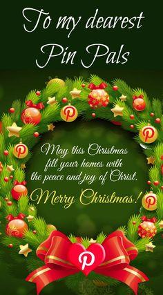 Merry Christmas Pinterest Pin Pals