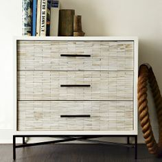 Wood Tiled 3-Drawer Dresser | west elm