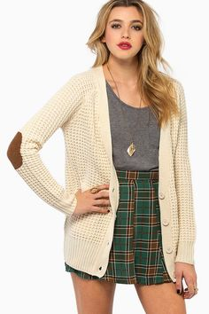 Cardigan with elbow patches