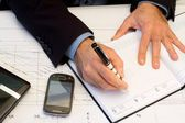 Businessman planning something on calendar — Foto Stock