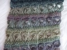 Broomstick lace #crochet scarf pattern for sale from April Hubbard