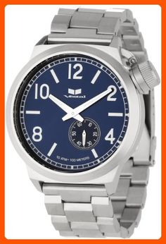 Vestal Men's CTN3M03 Canteen Metal Silver Navy Watch - Mens world (*Amazon Partner-Link)