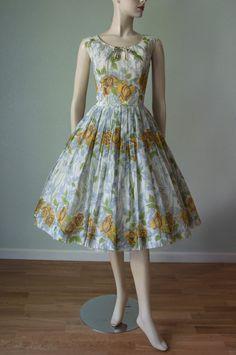 1950's Organdy and Silk Dress