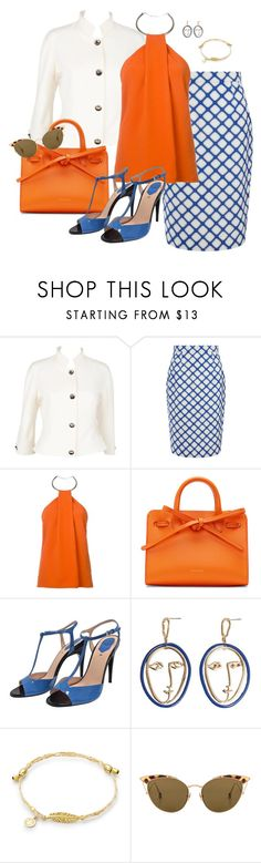"""Orange2"" by doramoleiro ❤ liked on Polyvore featuring Thierry Mugler, Jonathan Saunders, Mansur Gavriel, Fendi, MANGO, Ahlem and orange"